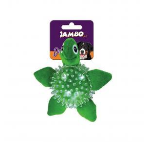 Brinquedo Pelúcia para Cães Spiky Ball Tartaruga Jambo Pet