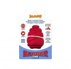Brinquedo Rubber Cone Grande Vermelho Jambo Pet