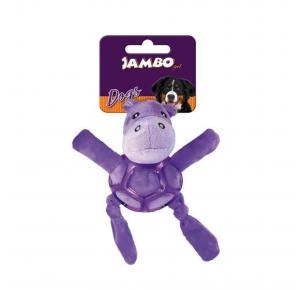 Brinquedo para Cães Pelúcia Net Ball Hipopotamo Jambo Pet