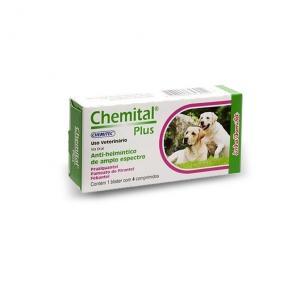 Vermifugo Chemital Plus cães (4 Comprimidos)