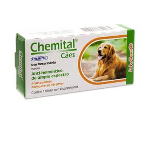 Vermifugo Chemital Cães  (4 comprimidos )