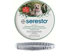 Coleira Seresto Antipulgas para Cães e Gatos até 8 Kg
