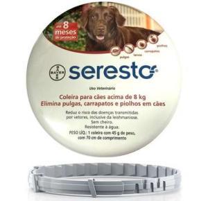 Coleira Seresto Antipulgas  para Cães acima de 8 Kg