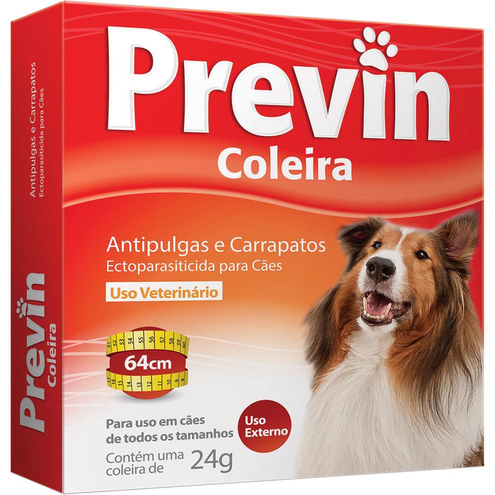 Coleira Antipulgas e Carrapatos Coveli Previn para Cães - 24 g