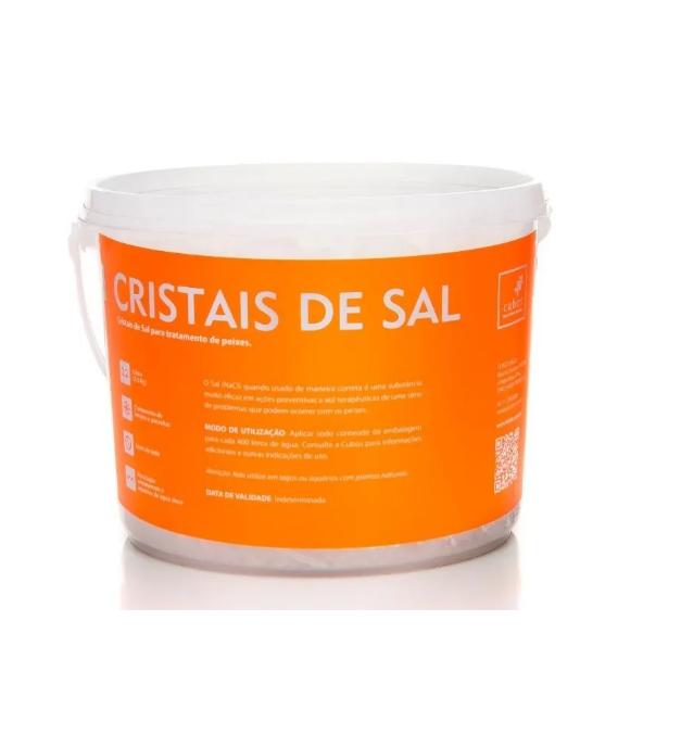 Cubos Cristais De Sal - Tratamento peixes ornamentais 2,2L