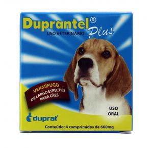 Vermífugo Duprantel Plus Duprat Cães (4 comprimidos)
