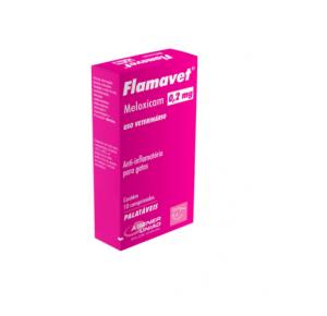 Flamavet Agener União Anti-inflamatório 0,2mg para gatos 10 comprimidos