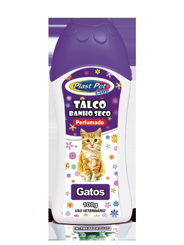 Talco Pra Gato 100G Banho A Seco Plast Pet