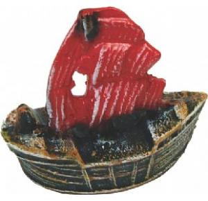Enfeite Para Aquário Barco Caravela Pequeno Ref 076 Lester