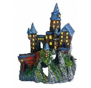 Enfeite Para Aquário Castelo Na Montanha III Lester