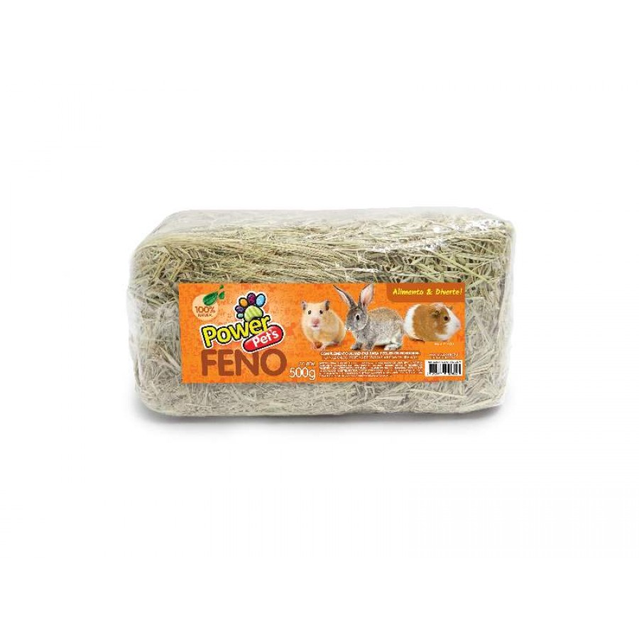 Feno Prensado Power Pets-500G