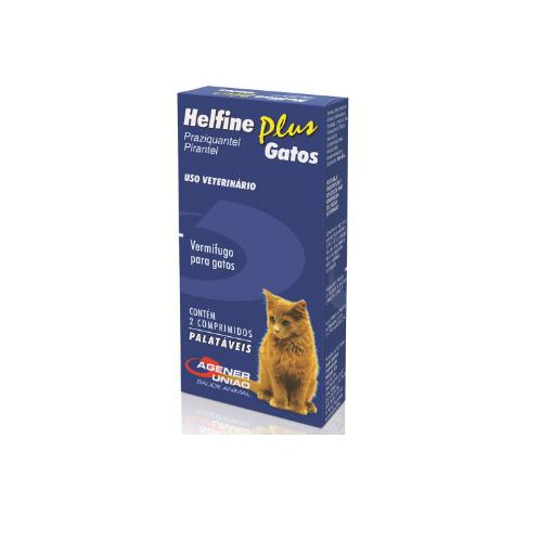 Vermífugo  Helfine Plus Gatos (2 Comprimidos)