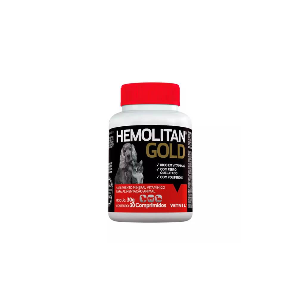 Hemolitan Gold com 30 Comprimidos Vetnil