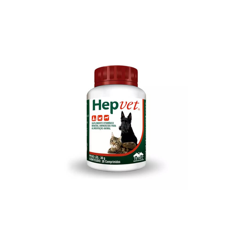 Hepvet com 30 Comprimidos Vetnil