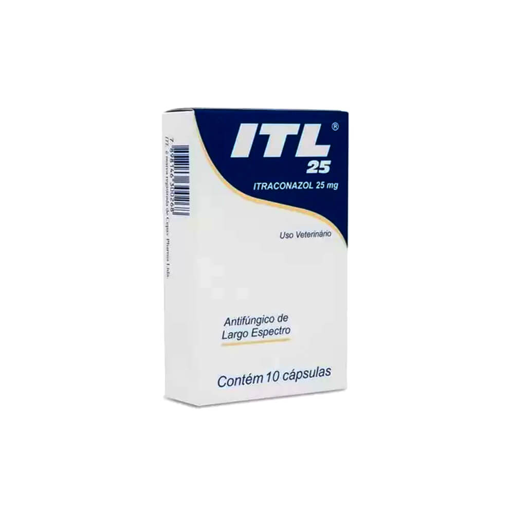Itraconazol 25mg com 10 Cápsulas ITL Cepav