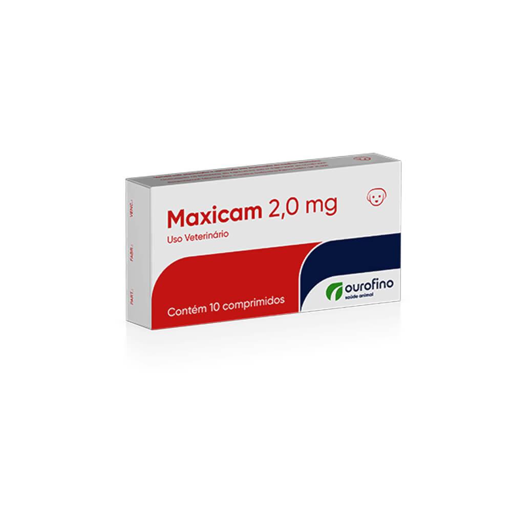 Maxicam Blíster com 10 Comprimidos 2mg Ourofino