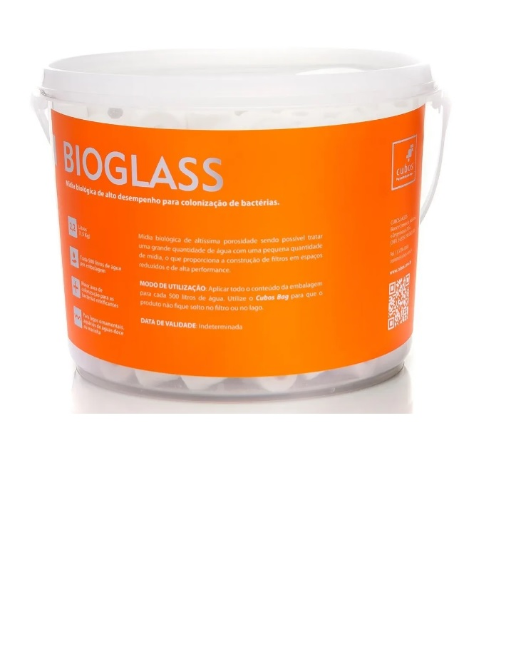Mídia Cerâmica Biologica Cubos Bioglass 1,5kg  1,2 Litros