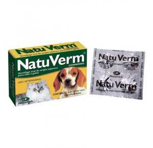 Vermífugo NatuVerm Vetbras  cães e gatos (4 comprimidos)
