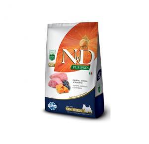 Ração N&D Pumpkin para Cães Adultos Raças pequenas sabor Cordeiro 2,5Kg