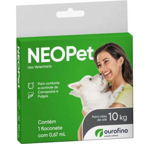 Antipulgas e Carrapatos Neopet Ourofino para Cães até 10kg