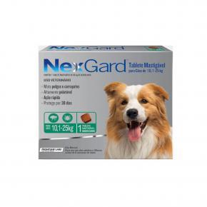 NexGard Antipulgas Cães de 10,1 à 25 Kg 1 Tablete