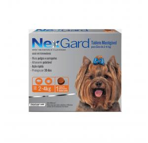 NexGard Antipulgas Cães de 2 à 4 Kg 1 Tablete