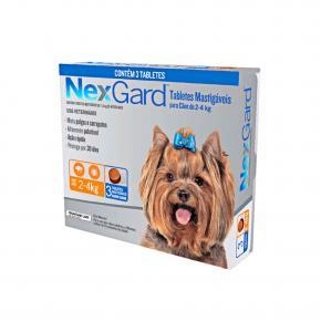 NexGard Antipulgas Cães de 2 à 4 Kg 3 Tabletes