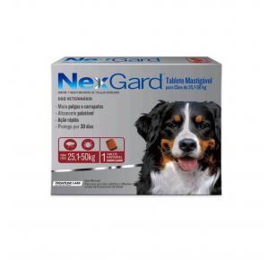 NexGard Antipulgas Cães de 25,1 à 50 Kg 1 Tablete