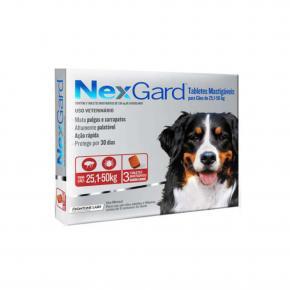 NexGard Antipulgas Cães de 25,1 à 50 Kg 3 Tabletes