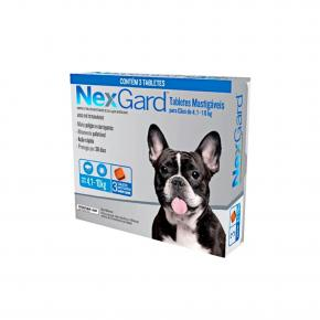 NexGard Antipulgas Cães de 4,1 à 10 Kg 3 Tabletes