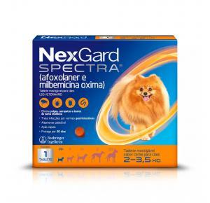 Antipulgas e Carrapatos Nexgard Spectra PP 2 à 3,5Kg 1 Tablete