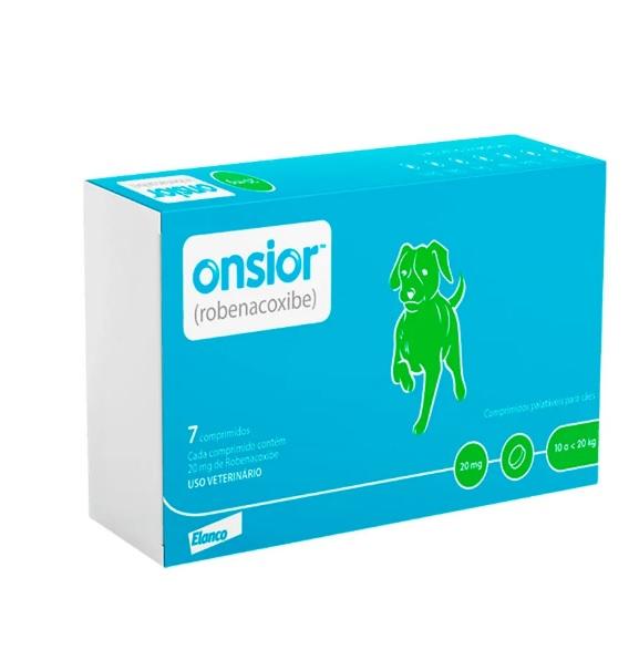Onsior Cães Elanco 7 comprimidos 20mg  10 a 20kg