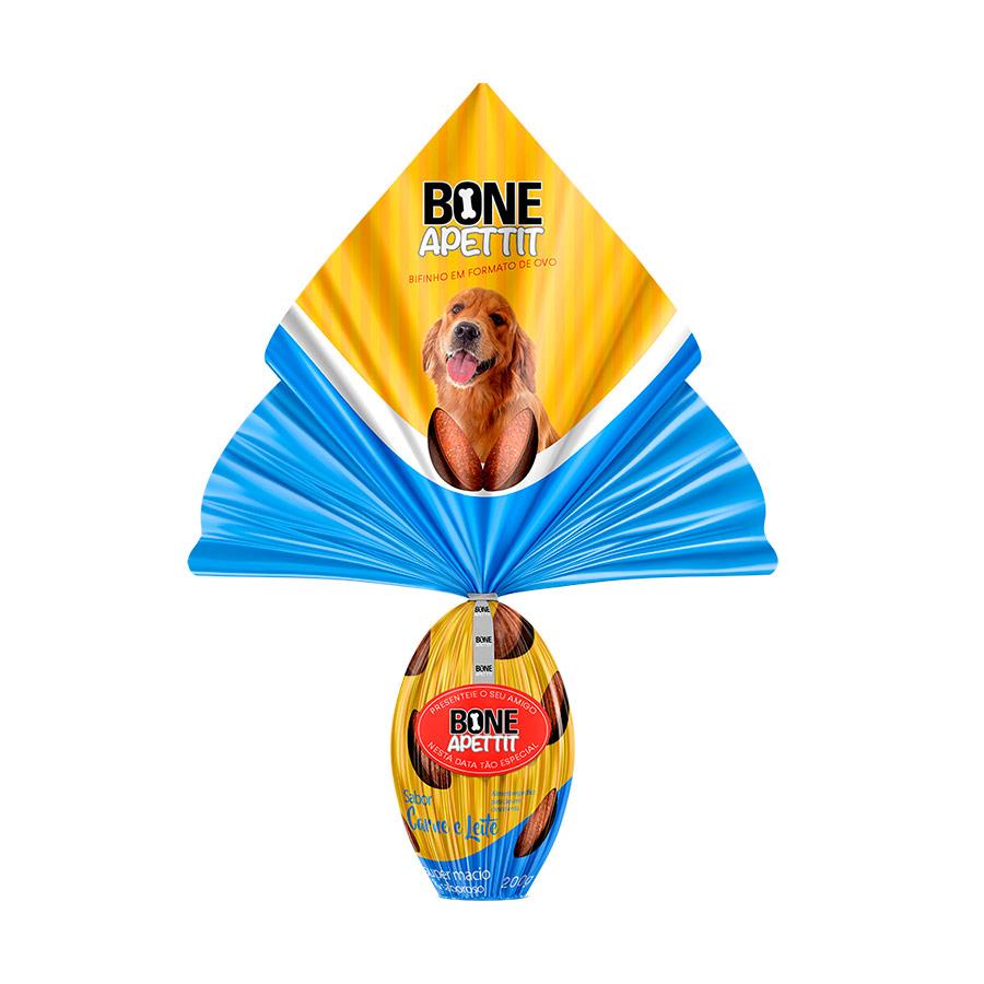 Ovo De Páscoa Para cães Com Surpresinha Bone Apettit Carne e Leite