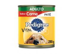Pedigree Lata Patê Vital Pro para Cães Adultos Sabor Carne - 280g