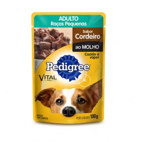 Ração Úmida Pedigree Sachê Cães Adultos Raças Pequenas Cordeiro ao Molho 100g