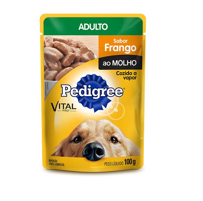 Ração Úmida Pedigree Sachê Cães Adultos - Frango ao Molho 100g