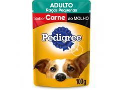 Pedigree Sachê Carne ao Molho Cães Adultos de Raças Pequenas 100g