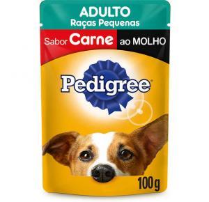 Ração Úmida Pedigree Sachê Cães Adultos de Raças Pequenas - Carne ao Molho 100g