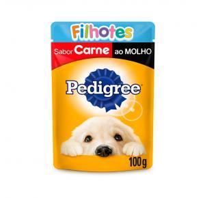Ração Úmida Pedigree Sachê para Cães Filhotes - Carne ao Molho 100g