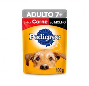 Ração Úmida Pedigree Sachê para Cães Adultos Sênior 7+ Anos - Carne ao Molho 100g