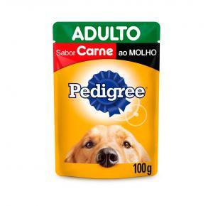 Ração Úmida Pedigree Sachê para Cães Adultos - Carne ao Molho 100g