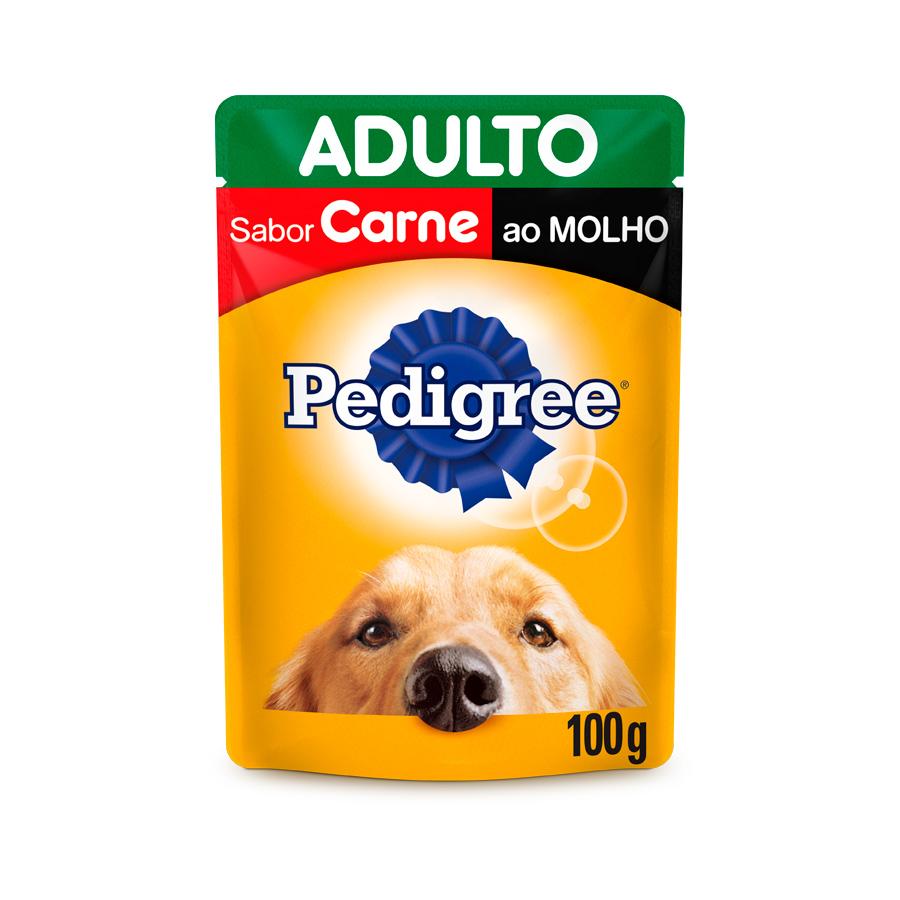 Pedigree Sachê Para Cães Adultos Sabor Carne ao Molho - 100g