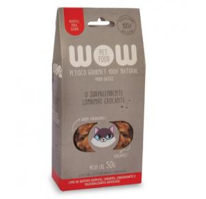 Petisco Natural Wow O Surpreendente Lombinho Crocante Gatos 50g