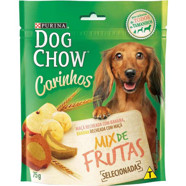 Petisco Nestlé Purina Dog Chow Carinhos Mix de Frutas para Cães Adultos - 75 g