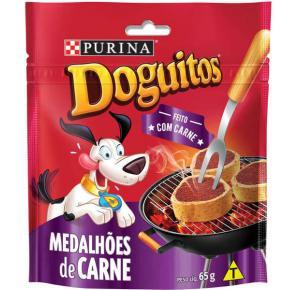 Petisco Nestlé Purina Doguitos Medalhões de Carne para Cães 65g