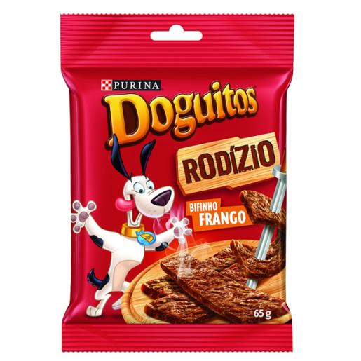 Petisco Nestlé Purina Doguitos Rodizio Bifinho de Frango para cães 65g