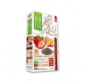 Petisco Onebyone Gourmet Fit Stick Morango Batata Doce e Chia Spin Pet 50g