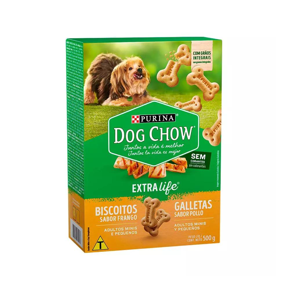 Petisco Purina Dog Chow Carinhos Integral Mini Frango para Cães Adultos Raças Pequenas 500g Nestlé