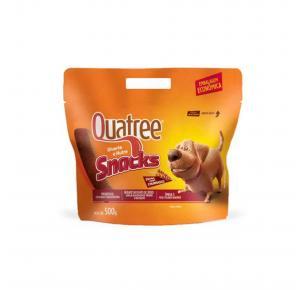 Petisco Snack Quatree para Cães Sabor Churrasco 500g
