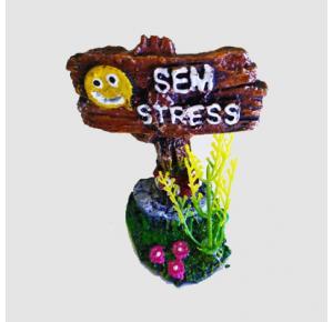 Enfeite Lester Placa Para Aquário Sem Stress Rs- 223